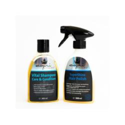 Zestaw do sierści odżywka SuperShine i Vital Shampoo EquiXtreme